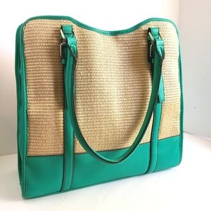 Large Kelly & Katie Woven and Leather Bag